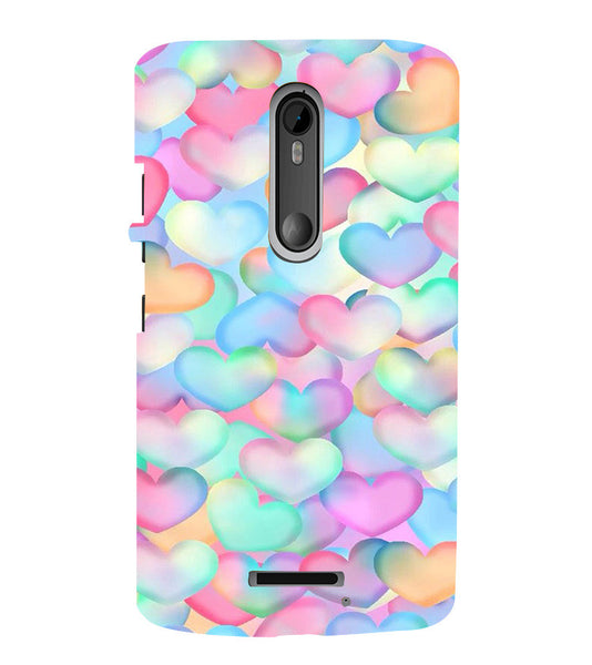 EPICCASE Colorful Hearts Back Case Cover for Moto X3