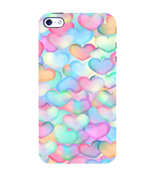 EPICCASE Colorful Hearts Back Case Cover for Apple iPhone 5/5s