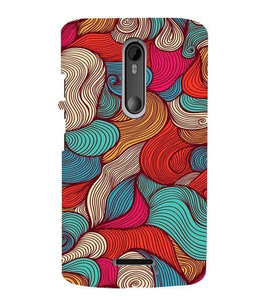 EPICCASE Threaded Pattern case Back Case Cover for Moto X3