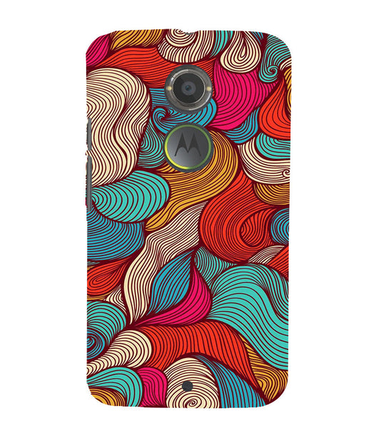 EPICCASE Threaded Pattern case Back Case Cover for Moto X2