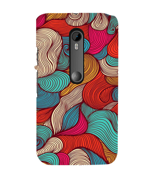 EPICCASE Threaded Pattern case Back Case Cover for Moto X Force
