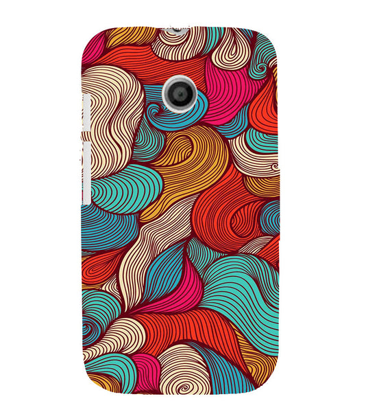 EPICCASE Threaded Pattern case Back Case Cover for Moto E