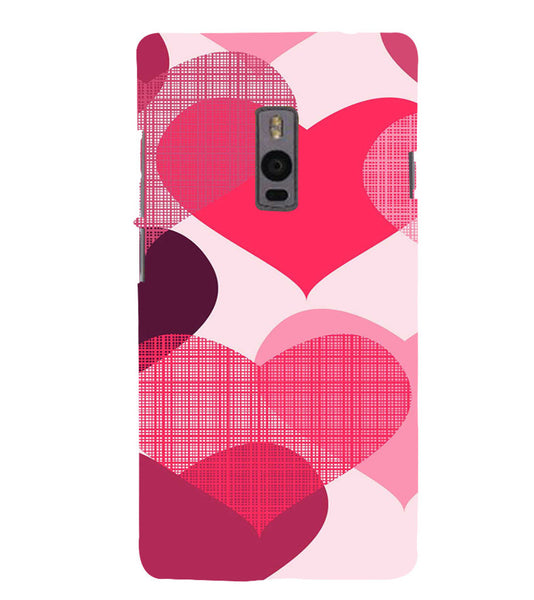 EPICCASE Big Heart Back Case Cover for Oneplus Two