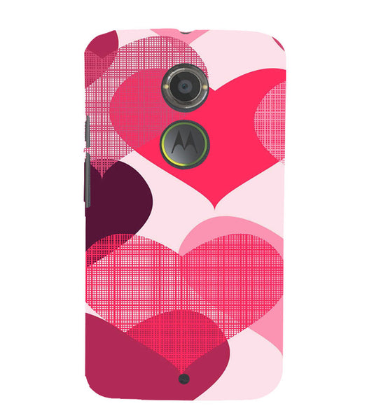 EPICCASE Big Heart Back Case Cover for Moto X2