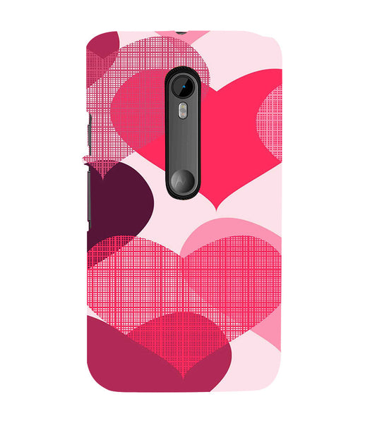 EPICCASE Big Heart Back Case Cover for Moto X Force