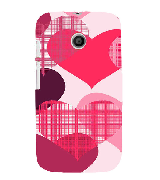 EPICCASE Big Heart Back Case Cover for Moto E