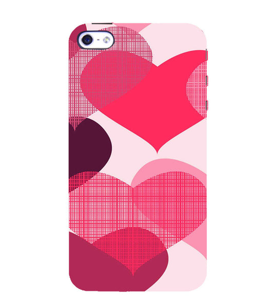 EPICCASE Big Heart Back Case Cover for Apple iPhone 4