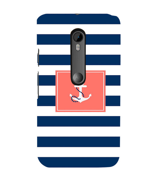 EPICCASE Navy Back Case Cover for Moto X Play
