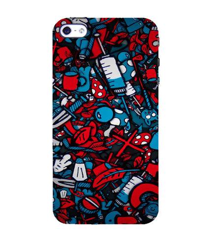 EPICCASE Absract Art Case Back Case Cover for Apple iPhone 4