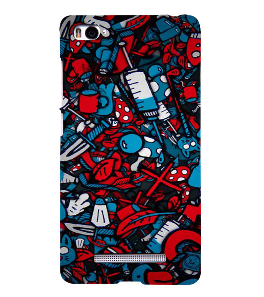 EPICCASE Absract Art Case Back Case Cover for Xiaomi Redmi Mi4i