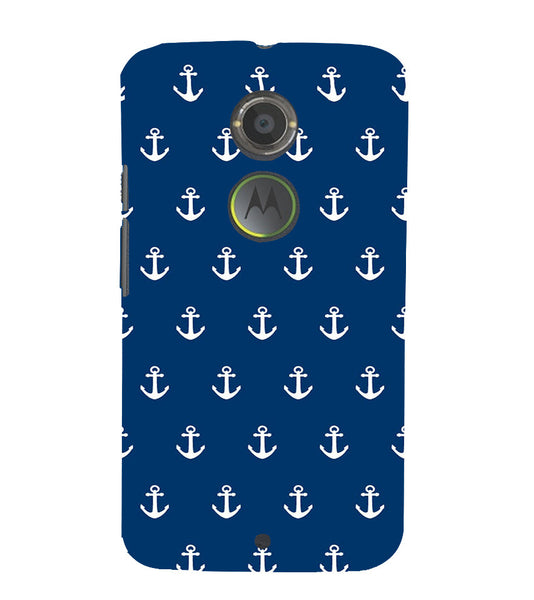 EPICCASE Anchor Pattern Back Case Cover for Moto X2