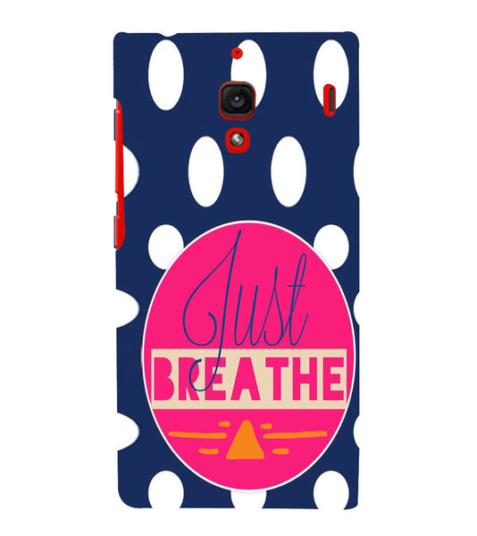 EPICCASE Just Breathe Back Case Cover for Xiaomi Redmi 1s