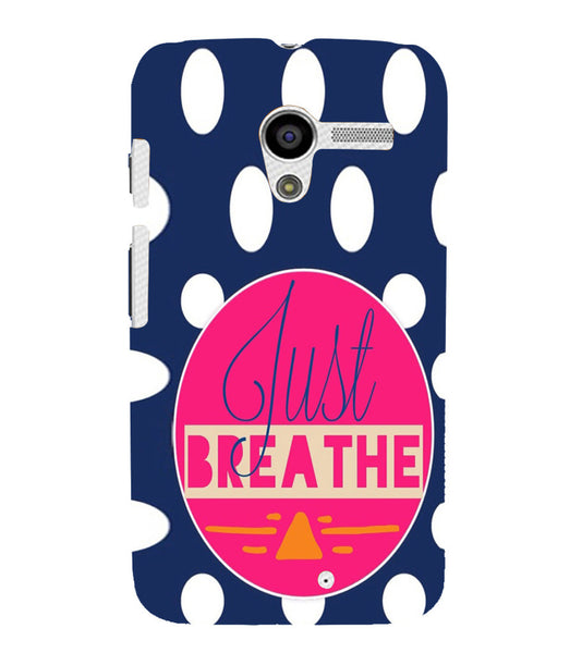 EPICCASE Just Breathe Back Case Cover for Moto X