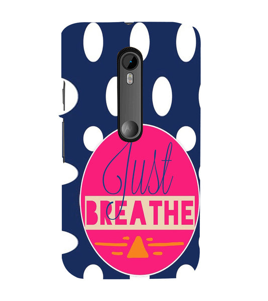 EPICCASE Just Breathe Back Case Cover for Moto X Force