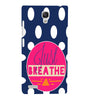 EPICCASE Just Breathe Back Case Cover for Xiaomi Redmi Note