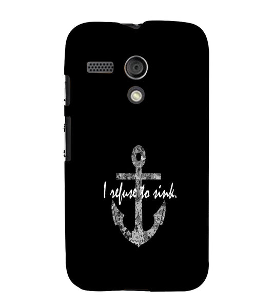EPICCASE Refuse to Sink Back Case Cover for Moto G