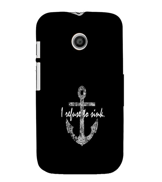 EPICCASE Refuse to Sink Back Case Cover for Moto E