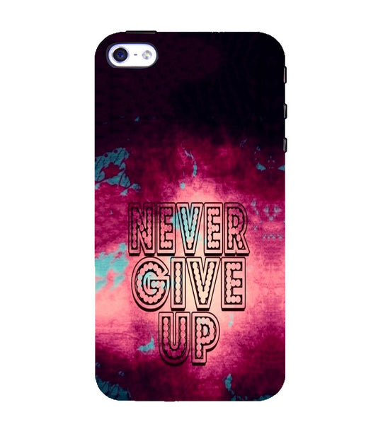 EPICCASE Never Give up Back Case Cover for Apple iPhone 5/5s