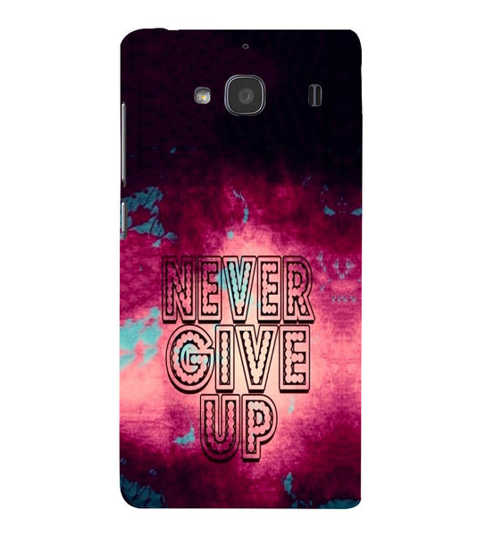 EPICCASE Never Give up Back Case Cover for Xiaomi Redmi 2s
