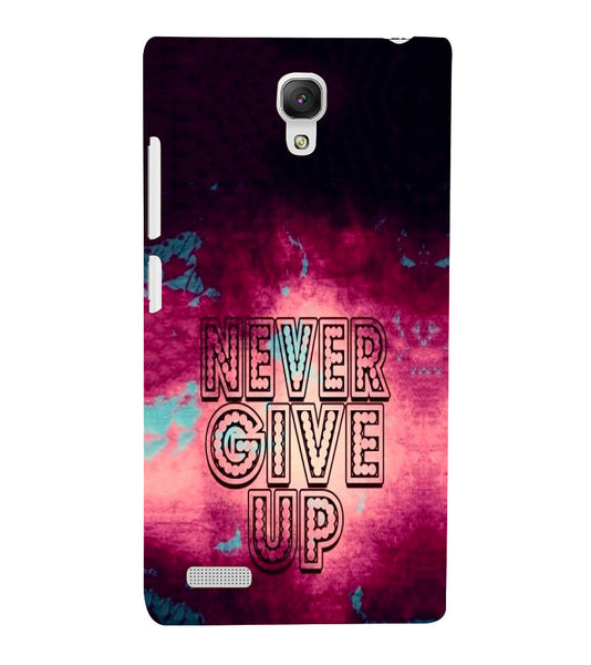 EPICCASE Never Give up Back Case Cover for Xiaomi Redmi Note