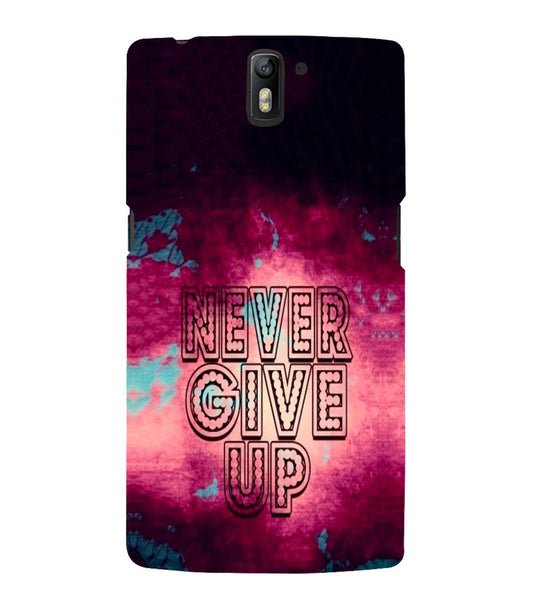 EPICCASE Never Give up Back Case Cover for Oneplus One