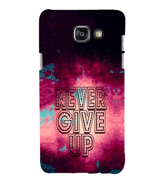 EPICCASE Never Give up Back Case Cover for Samsung A7 2016
