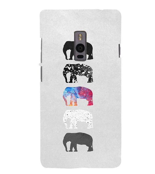 EPICCASE Elephant Design Back Case Cover for Oneplus Two