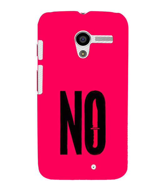 EPICCASE NO Voilence Back Case Cover for Moto X
