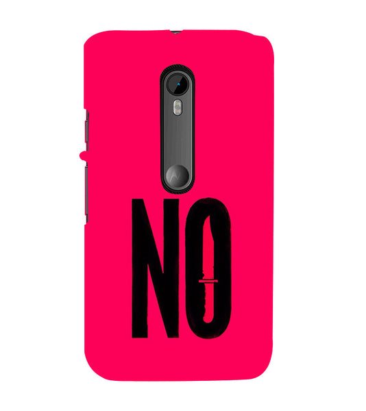 EPICCASE NO Voilence Back Case Cover for Moto X Style