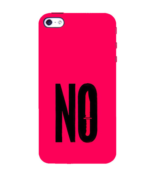 EPICCASE NO Voilence Back Case Cover for Apple iPhone 4