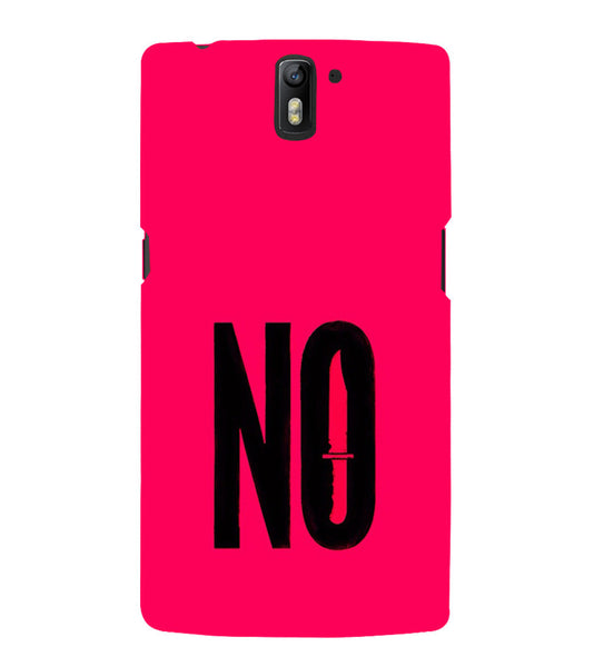 EPICCASE NO Voilence Back Case Cover for Oneplus One