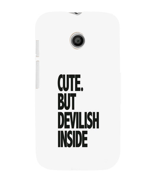 EPICCASE CUTE Devil Back Case Cover for Moto E