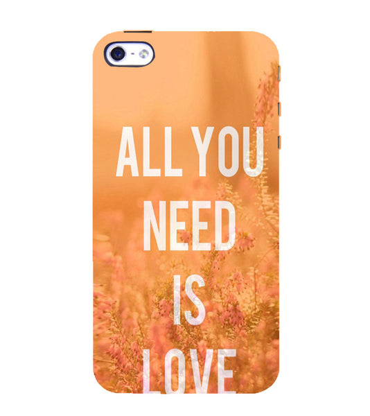 EPICCASE All you need is Love Back Case Cover for Apple iPhone 5/5s