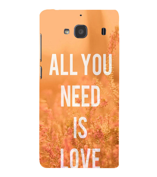 EPICCASE All you need is Love Back Case Cover for Xiaomi Redmi 2s