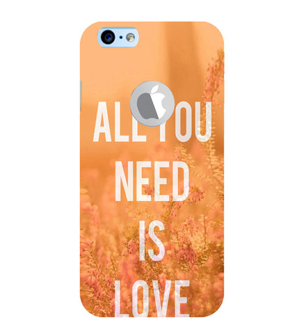 EPICCASE All you need is Love Back Case Cover for Apple iPhone 6/6s