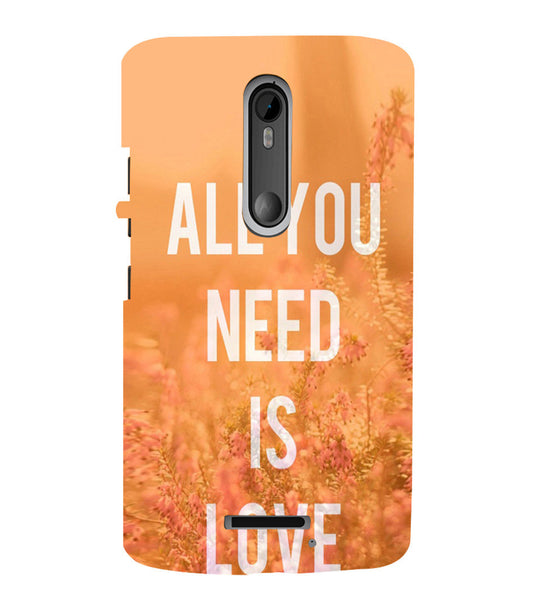 EPICCASE All you need is Love Back Case Cover for Moto X3