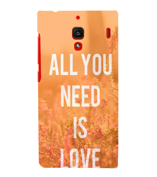 EPICCASE All you need is Love Back Case Cover for Xiaomi Redmi 1s