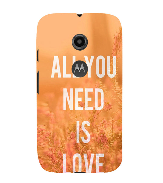EPICCASE All you need is Love Back Case Cover for Moto E2