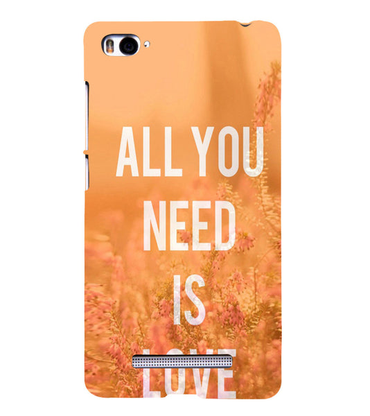EPICCASE All you need is Love Back Case Cover for Xiaomi Redmi Mi4i