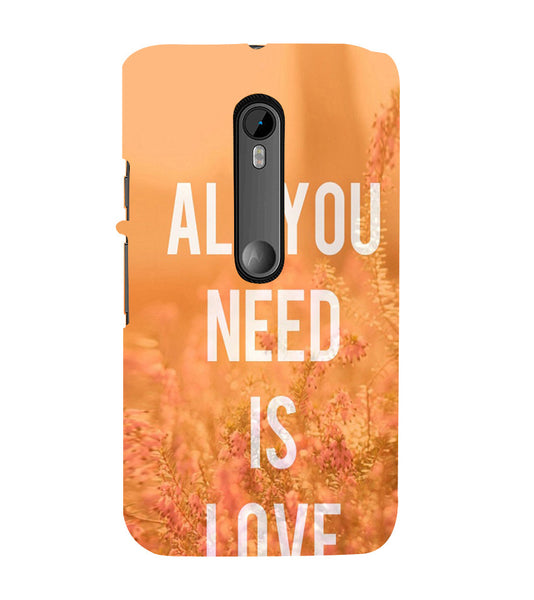 EPICCASE All you need is Love Back Case Cover for Moto X Force