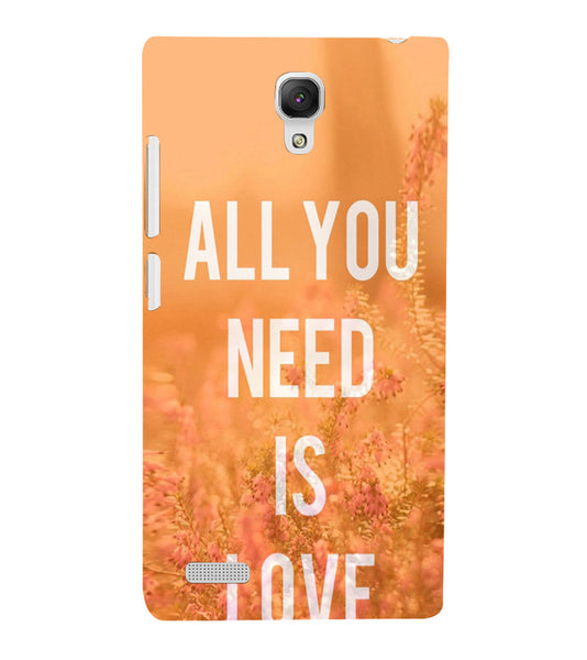 EPICCASE All you need is Love Back Case Cover for Xiaomi Redmi Note