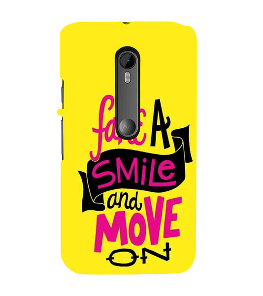 EPICCASE Fake Smile Back Case Cover for Moto X Style