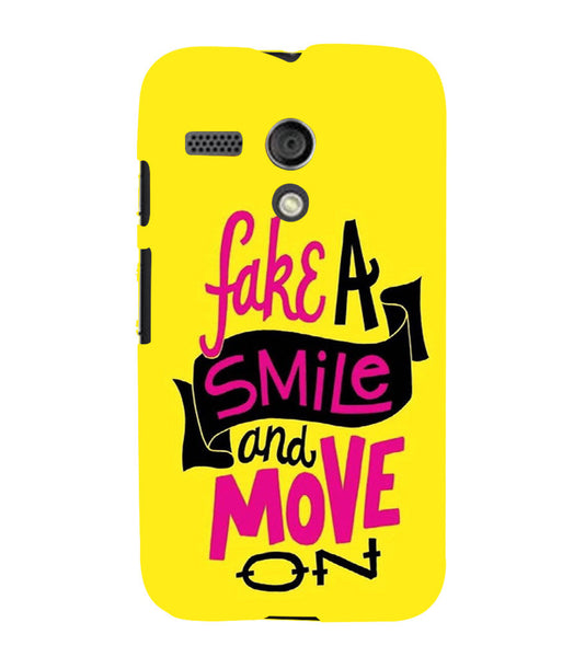 EPICCASE Fake Smile Back Case Cover for Moto G