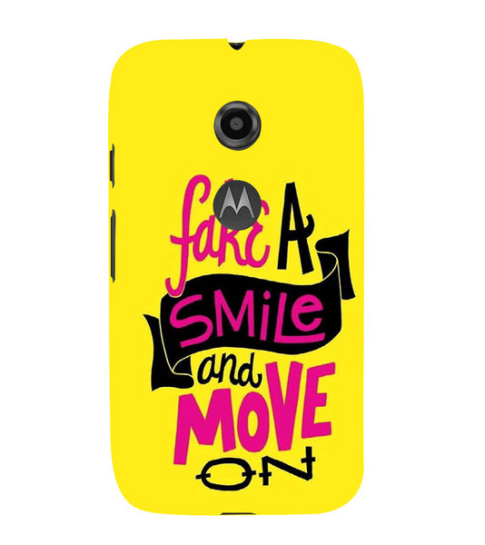 EPICCASE Fake Smile Back Case Cover for Moto E2