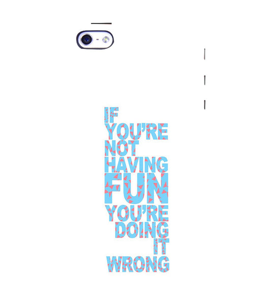 EPICCASE Are you doing it right Back Case Cover for Apple iPhone 4