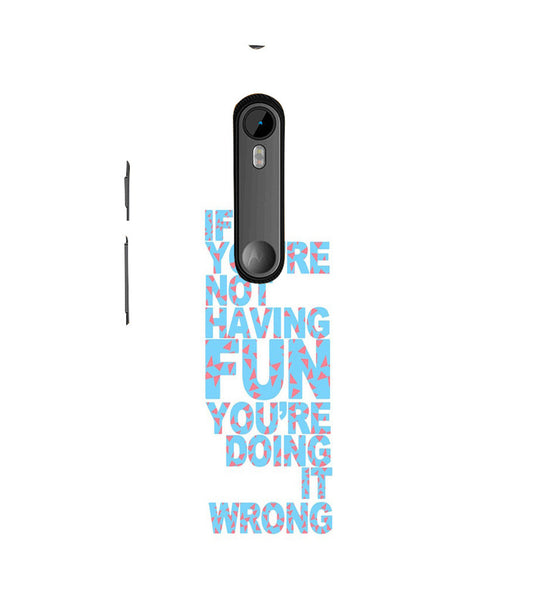 EPICCASE Are you doing it right Back Case Cover for Moto X Force