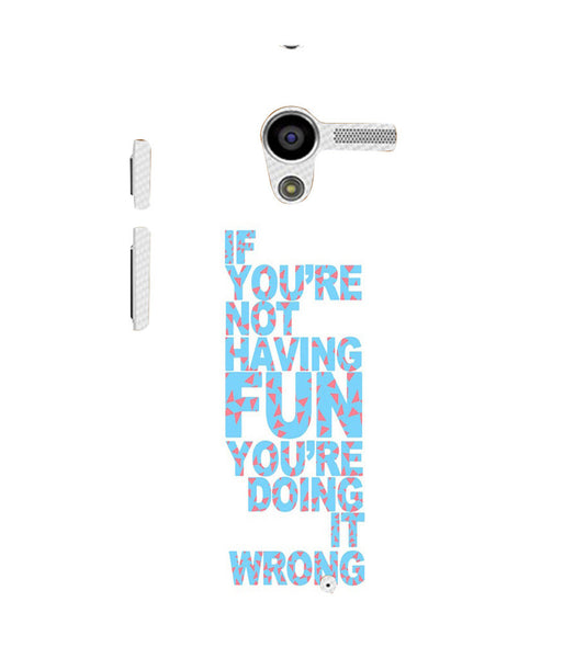 EPICCASE Are you doing it right Back Case Cover for Moto X