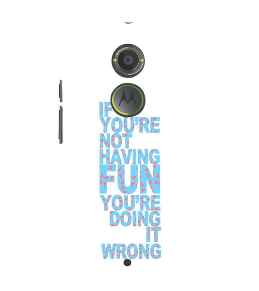 EPICCASE Are you doing it right Back Case Cover for Moto X2