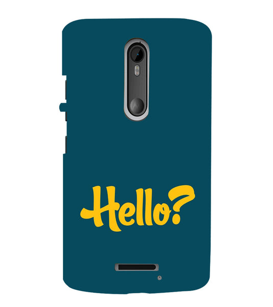 EPICCASE Hello? Back Case Cover for Moto X3
