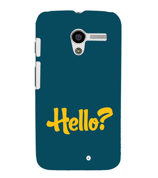 EPICCASE Hello? Back Case Cover for Moto X